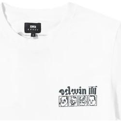 Ruhák Férfi Rövid ujjú pólók Edwin T-shirt  Hokusai Noh Masks blanc/noir