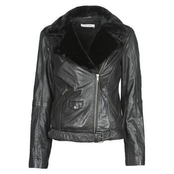 Ruhák Női Bőrkabátok / műbőr kabátok Naf Naf CILL Fekete