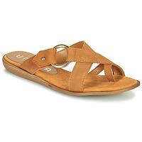 Cipők Női Lábujjközös papucsok Unisa ADRIEL Teve