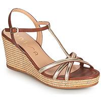 Cipők Női Szandálok / Saruk Unisa LLINAR Arany