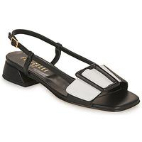 Cipők Női Szandálok / Saruk Fericelli PANILA Fekete  / Fehér