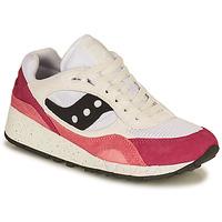 Cipők Női Rövid szárú edzőcipők Saucony SHADOW 6000 Fehér / Rózsaszín