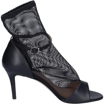 Cipők Női Szandálok / Saruk Stephen Good Sandali Pelle Tessuto Nero