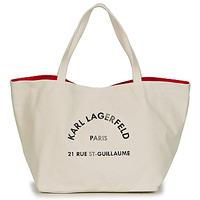 Táskák Női Bevásárló szatyrok / Bevásárló táskák Karl Lagerfeld RUE ST GUILLAUE CANVAS TOTE Ekrü