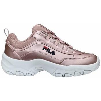 Cipők Lány Rövid szárú edzőcipők Fila Strada F Low JR Rózsaszín
