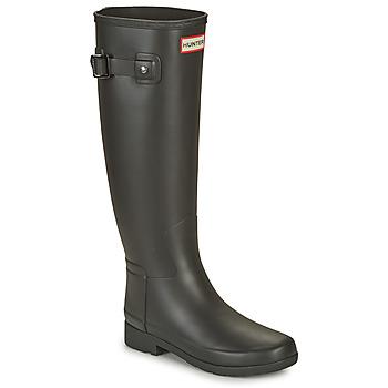Cipők Női Gumicsizmák Hunter ORIGINAL REFINED Fekete