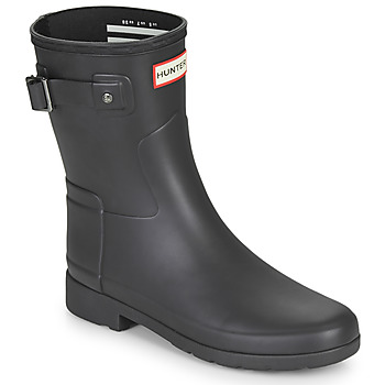 Cipők Női Gumicsizmák Hunter ORIGINAL REFINED SHORT Fekete