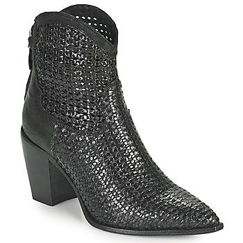 Cipők Női Bokacsizmák Mimmu INTRECCIO NERO Fekete