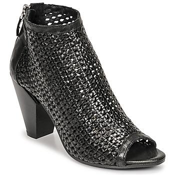 Cipők Női Bokacsizmák Mimmu INTRECCIO-NERO-PARKER Fekete