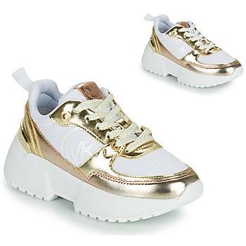 Cipők Lány Rövid szárú edzőcipők MICHAEL Michael Kors COSMO SPORT Fehér / Arany