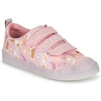 Cipők Lány Rövid szárú edzőcipők Clarks FOXING PRINT T Rózsaszín