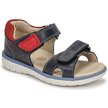 Cipők Fiú Szandálok / Saruk Clarks ROAM SURF K Kék
