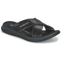 Cipők Férfi strandpapucsok Bugatti IDAHO Fekete