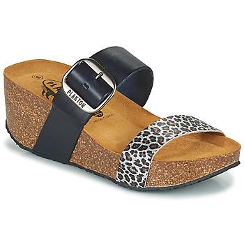 Cipők Női Papucsok Plakton SO ROCK Kék / Leopárd