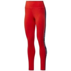 Ruhák Női Legging-ek Reebok Sport TE Linear Logo CT L Piros