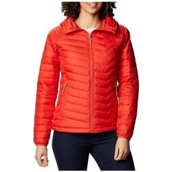 Ruhák Női Kabátok Columbia WM Powder Lite Hooded Jacket Piros