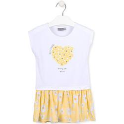 Ruhák Lány Rövid ruhák Losan 016-7021AL Fehér