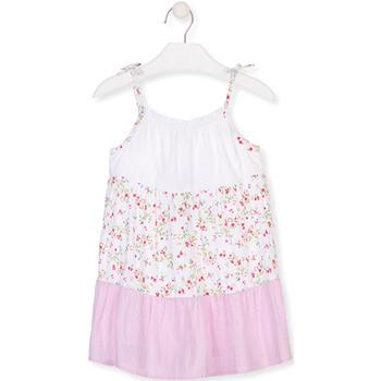 Ruhák Lány Rövid ruhák Losan 016-7030AL Fehér