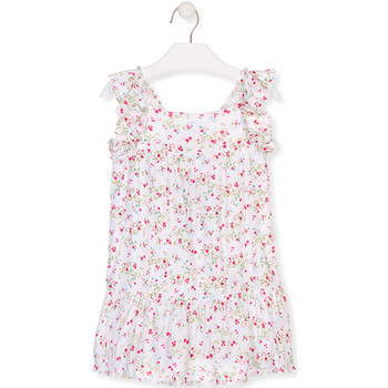 Ruhák Lány Rövid ruhák Losan 016-7031AL Fehér