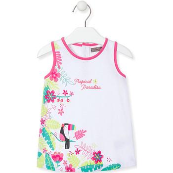 Ruhák Lány Rövid ruhák Losan 018-7005AL Fehér