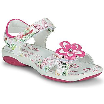 Cipők Lány Szandálok / Saruk Primigi SARAH Fehér / Többszínű