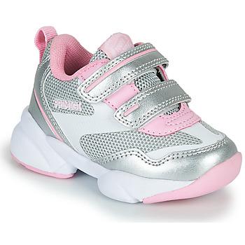 Cipők Lány Rövid szárú edzőcipők Primigi SUZZI Ezüst / Rózsaszín