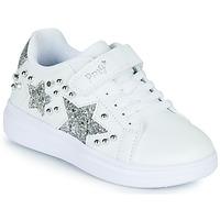 Cipők Lány Rövid szárú edzőcipők Primigi NOLLA Fehér / Ezüst