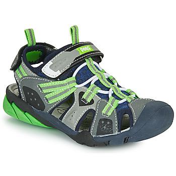 Cipők Fiú Sportszandálok Primigi ANATI Szürke / Zöld