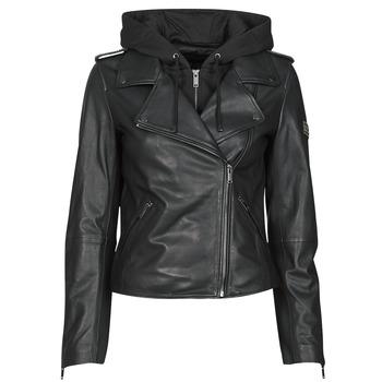 Ruhák Női Bőrkabátok / műbőr kabátok Ikks BS48015-02 Fekete