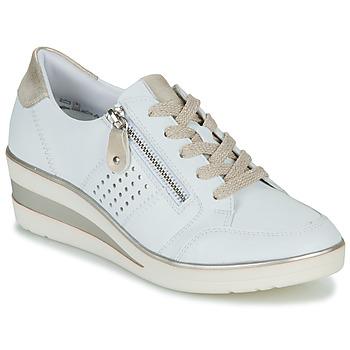 Cipők Női Rövid szárú edzőcipők Remonte Dorndorf DORA Fehér / Arany