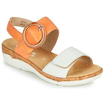 Cipők Női Szandálok / Saruk Remonte Dorndorf ORAN Narancssárga / Fehér