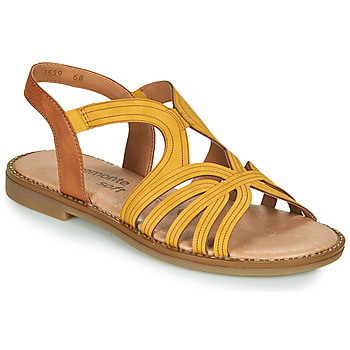 Cipők Női Szandálok / Saruk Remonte Dorndorf SANDA Citromsárga / Barna