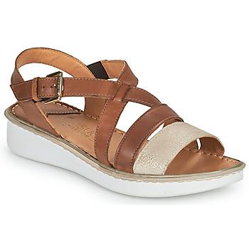 Cipők Női Szandálok / Saruk Casual Attitude ODETTE Teve / Arany