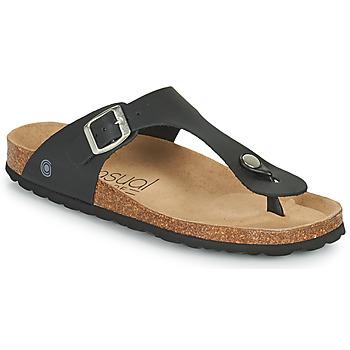 Cipők Női Lábujjközös papucsok Casual Attitude OXOA Fekete