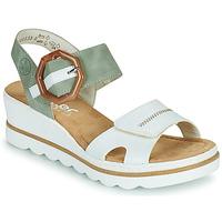 Cipők Női Szandálok / Saruk Rieker SOLLA Zöld / Fehér