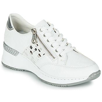 Cipők Női Rövid szárú edzőcipők Rieker GRAMI Fehér
