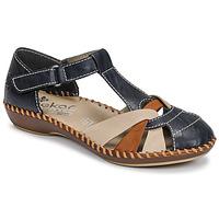 Cipők Női Szandálok / Saruk Rieker BLUE Kék / Barna