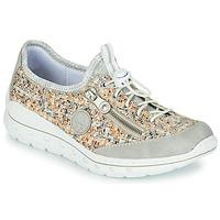 Cipők Női Rövid szárú edzőcipők Rieker GRISSA Szürke / Sokszínű