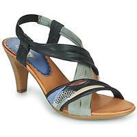Cipők Női Szandálok / Saruk Betty London POULOI Fekete  / Szürke