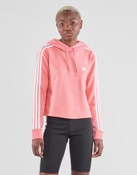Ruhák Női Pulóverek adidas Performance W 3S FT CRO HD Rózsaszín