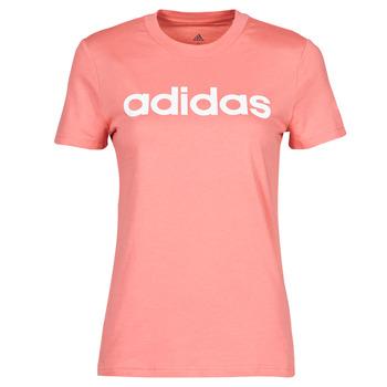 Ruhák Női Rövid ujjú pólók adidas Performance W LIN T Rózsaszín