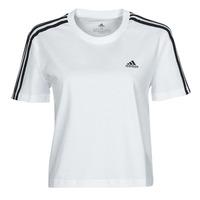 Ruhák Női Rövid ujjú pólók adidas Performance W 3S CRO T Fehér