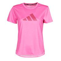Ruhák Női Rövid ujjú pólók adidas Performance BOS LOGO TEE Rózsaszín