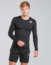 Ruhák Férfi Hosszú ujjú pólók adidas Performance TF LS Fekete