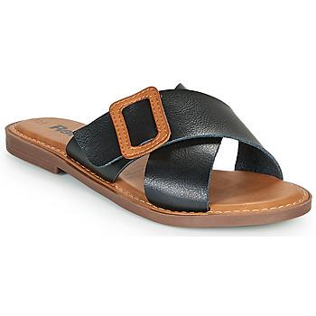 Cipők Női Papucsok Refresh TRAFFA Fekete