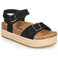 Cipők Női Szandálok / Saruk Refresh KINNA Fekete