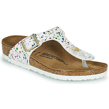Cipők Lány Lábujjközös papucsok Birkenstock GIZEH Fehér