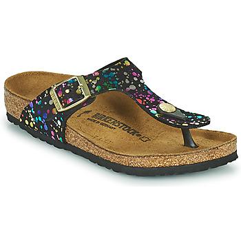 Cipők Lány Lábujjközös papucsok Birkenstock GIZEH Fekete