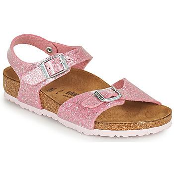 Cipők Lány Szandálok / Saruk Birkenstock RIO PLAIN Rózsaszín