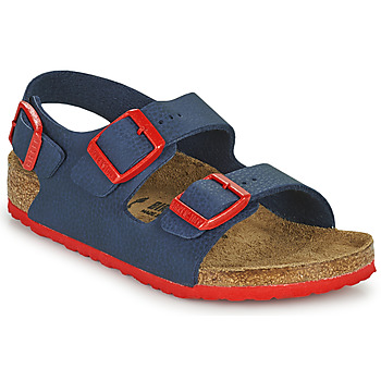 Cipők Fiú Szandálok / Saruk Birkenstock MILANO Kék / Piros